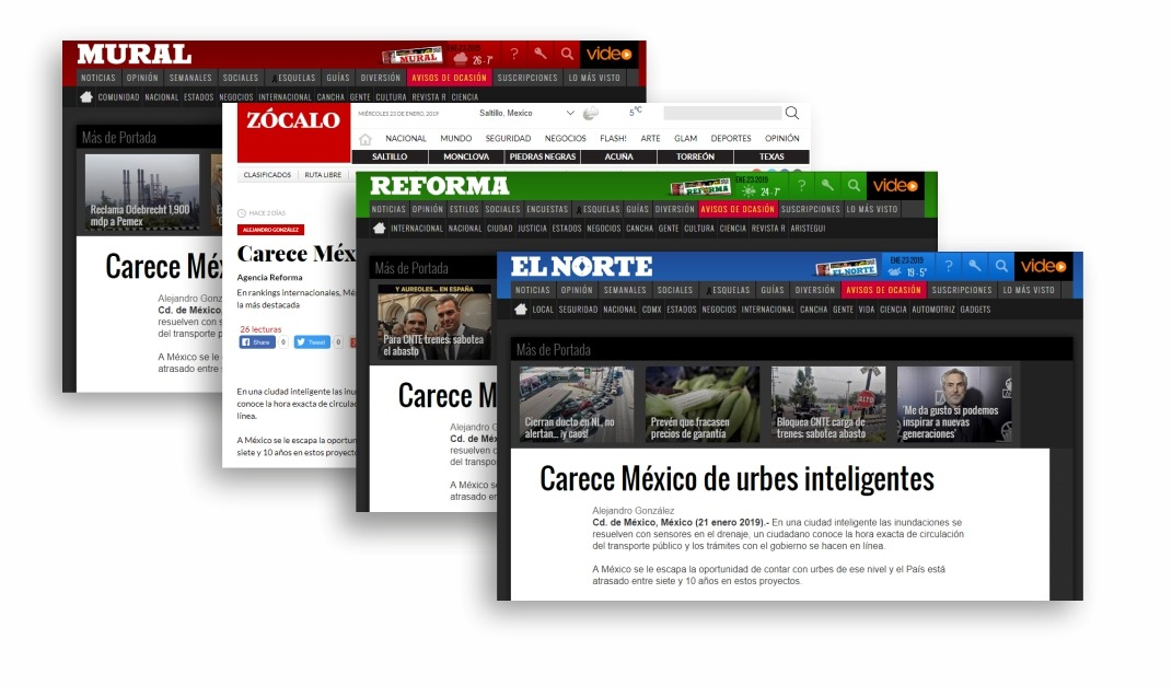 National media highlights lack of smart cities in Mexico